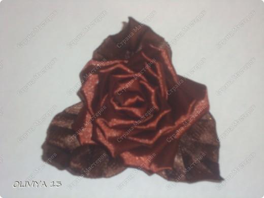 """Привет всем ! на этой странице я хочу ва показать следующие работы : резинка """" Шоколадная роза """" фото 2"""