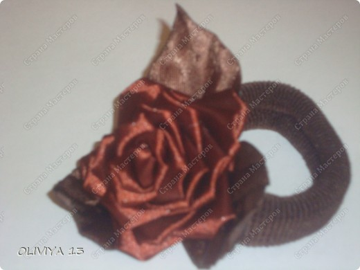 """Привет всем ! на этой странице я хочу ва показать следующие работы : резинка """" Шоколадная роза """" фото 3"""