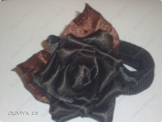 """Привет всем ! на этой странице я хочу ва показать следующие работы : резинка """" Шоколадная роза """" фото 10"""