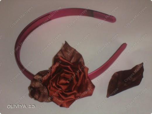 """Привет всем ! на этой странице я хочу ва показать следующие работы : резинка """" Шоколадная роза """" фото 5"""