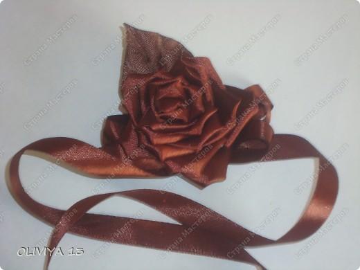 """Привет всем ! на этой странице я хочу ва показать следующие работы : резинка """" Шоколадная роза """" фото 6"""