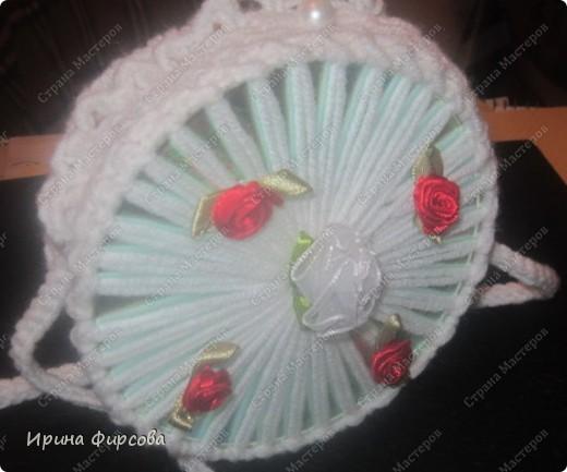 Летняя вязанная сумочка из СД - дисков плюс МК))) фото 4
