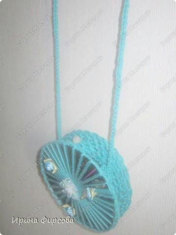 Летняя вязанная сумочка из СД - дисков плюс МК))) фото 9