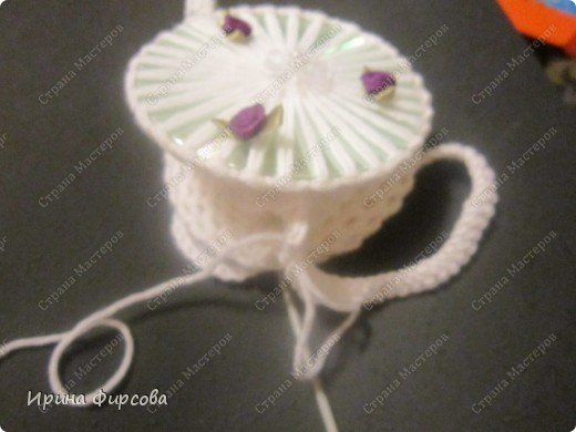 Летняя вязанная сумочка из СД - дисков плюс МК))) фото 11