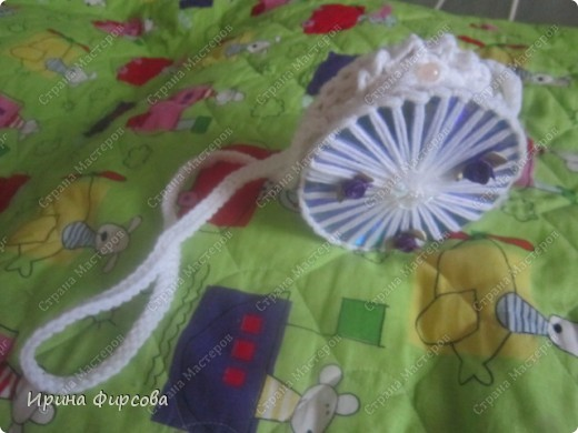 Летняя вязанная сумочка из СД - дисков плюс МК))) фото 13