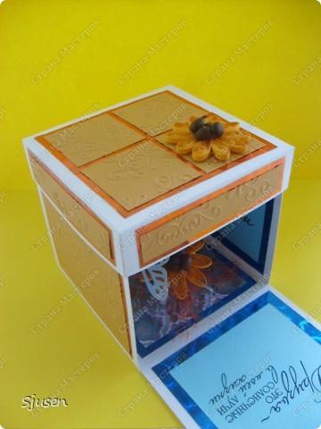 Ещё одна коробочка с сюрпризом, на этот раз для дочкиной подружки)) И снова благодарю мастериц сайта за вдохновение и Марину Абрамову http://marina-abramova.blogspot.com/ за образцы надписей! фото 2