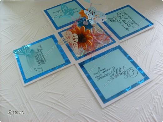 Ещё одна коробочка с сюрпризом, на этот раз для дочкиной подружки)) И снова благодарю мастериц сайта за вдохновение и Марину Абрамову http://marina-abramova.blogspot.com/ за образцы надписей! фото 3