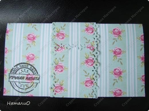 Всем здравствуйте))) сегодня у меня получился вот такой конверт для денежки. фото 5