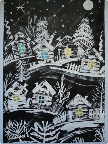 деревенские рисунки:
