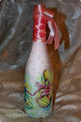Бутылки сделались в дополнение к этим бокалам http://stranamasterov.ru/node/384631 Делались быстро, фотографировались еще быстрее, на ходу практически.  фото 9