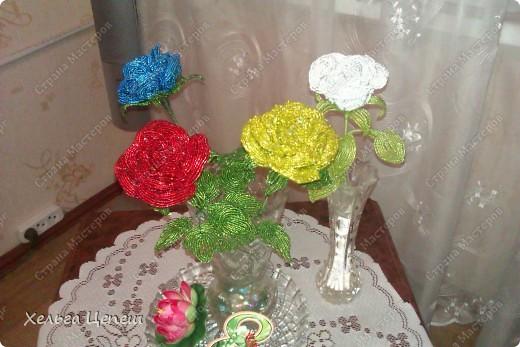 Розочки делала под заказ (все, кроме белой, она была в подарок). На каждую розу брала примерно по 5-7 дней.  фото 1