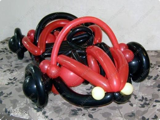 Машинка из шаров какой - 853d8