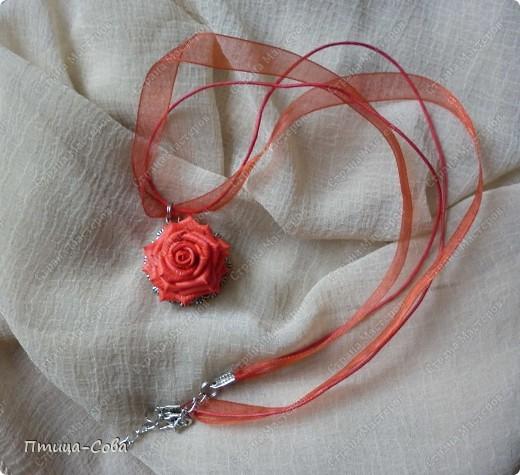 Свадебный комплект: зажим для волос, кулон, кольцо фото 2