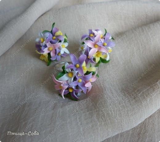 Свадебный комплект: зажим для волос, кулон, кольцо фото 4