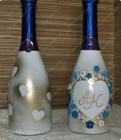Попросили меня сделать набор в синем,  в подарок на свадьбу по мотивам моего другого набора http://stranamasterov.ru/node/359689 , вот я и решила слегка изменить (скучно одно и тоже делать))))  фото 3