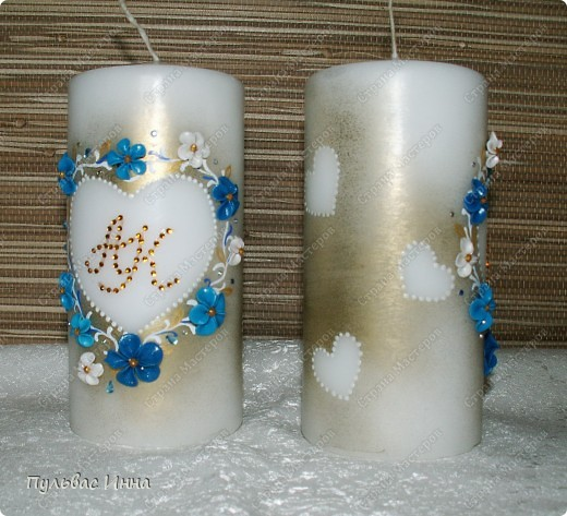 Попросили меня сделать набор в синем,  в подарок на свадьбу по мотивам моего другого набора http://stranamasterov.ru/node/359689 , вот я и решила слегка изменить (скучно одно и тоже делать))))  фото 2