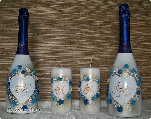 Попросили меня сделать набор в синем,  в подарок на свадьбу по мотивам моего другого набора http://stranamasterov.ru/node/359689 , вот я и решила слегка изменить (скучно одно и тоже делать))))  фото 4
