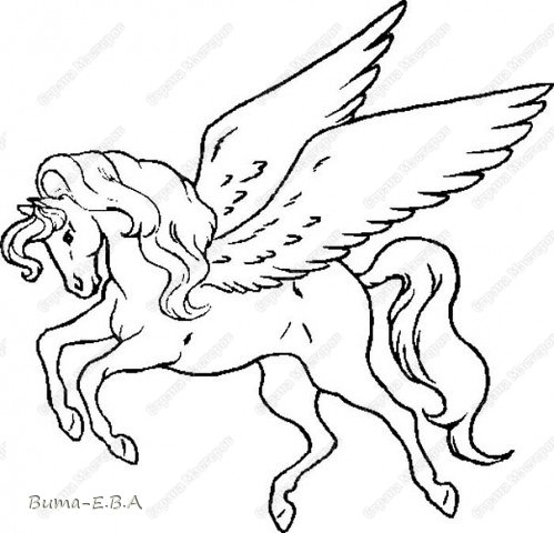 Вчера я уже рассказывала, что Маша обожает лошадей, и неравнодушна к сказочным созданиям... Вчера Маше очень понравился её нарисованный конь, и то как у неё он вышел... и она загорелась желанием продолжить  рисовать своих любимцев. Сегодня утром, она уже была на готове...  нашла подходящий рисунок, и начала его срисовывать.  Я думала она сегодня нарисует такой же рисунок, простым карандашом, но она решила  его сегодня нарисовать разноцветным. Вот какого коня она сегодня призентовала!!! фото 2