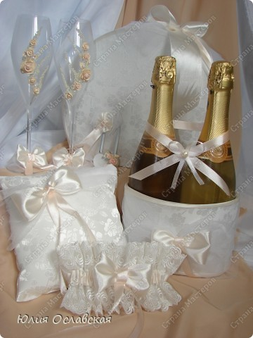 Декор предметов Свадьба Лепка Свадебный набор Айвори  Бусины Картон Ленты Пластика Ткань фото 1