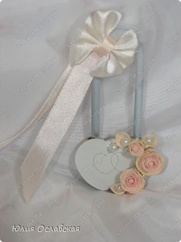 Декор предметов Свадьба Лепка Свадебный набор Айвори  Бусины Картон Ленты Пластика Ткань фото 6