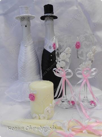 Бело-розовый набор.