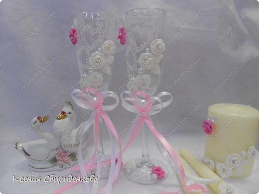 Бело-розовый набор. фото 4