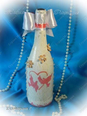 Вот такая бутылочка с фото получилась для конкурса на свадьбе фото 2