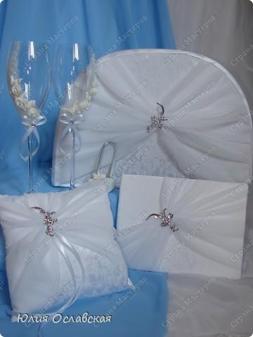 Еще один свадебный набор. В набор входила еще и подвязка, только я забыла ее сфотографировать. фото 1