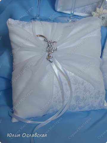 Еще один свадебный набор. В набор входила еще и подвязка, только я забыла ее сфотографировать. фото 3