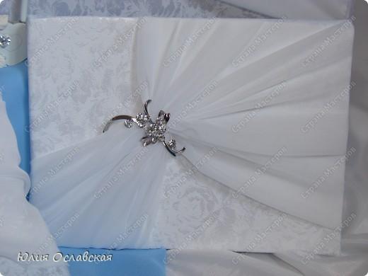 Еще один свадебный набор. В набор входила еще и подвязка, только я забыла ее сфотографировать. фото 4