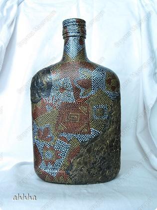 Бутылка с напитком на день рождения мужчине в самом расцвете сил :) на морскую тематикую. Использовала идеи многих мастериц. Огромное вам спасибо за опыт :) фото 5