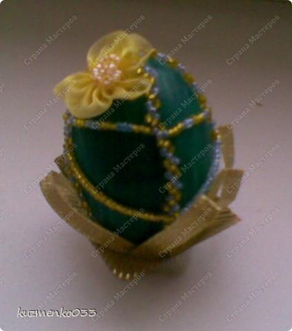 Яичко оплетённое бисером.  фото 3
