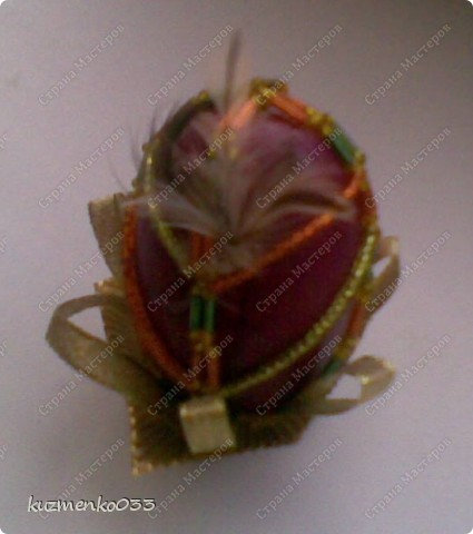 Яичко оплетённое бисером.  фото 4