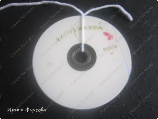 Летняя вязанная сумочка из СД - дисков плюс МК))) фото 23