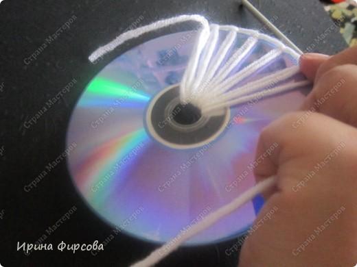 Летняя вязанная сумочка из СД - дисков плюс МК))) фото 34