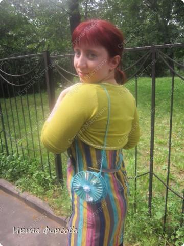 Летняя вязанная сумочка из СД - дисков плюс МК))) фото 14