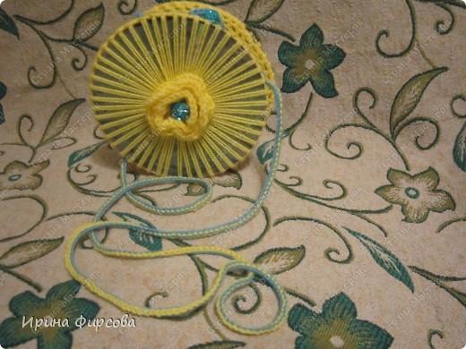 Летняя вязанная сумочка из СД - дисков плюс МК))) фото 22