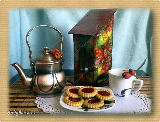 Сделала свой первый чайный домик. Декупаж фото 1