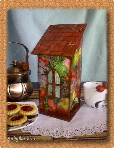 Сделала свой первый чайный домик. Декупаж фото 5