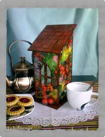 Сделала свой первый чайный домик. Декупаж фото 6