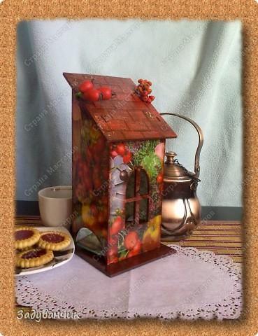 Сделала свой первый чайный домик. Декупаж фото 7