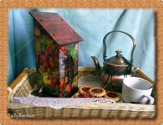 Сделала свой первый чайный домик. Декупаж фото 2