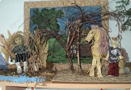 """Сделала картину в технике """"мокрая ткань""""по описанию  Ирины Рублёвой.Спасибо ей большое. фото 4"""