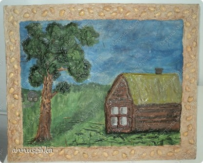 """Сделала картину в технике """"мокрая ткань""""по описанию  Ирины Рублёвой.Спасибо ей большое. фото 1"""