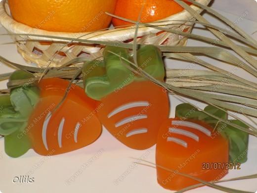 """Мыло """"Мандариновые зайчики"""" и """"Апельсиновые морковки"""". фото 3"""