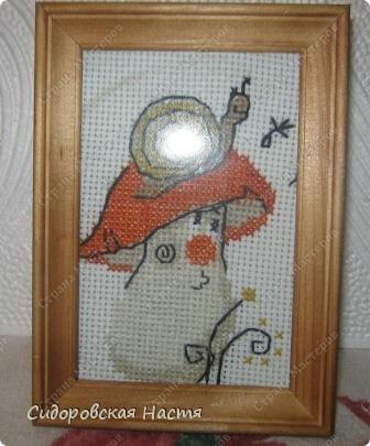 """Еще одна моя вышивка по схеме из набора """"Веселой пчелки"""" фото 1"""