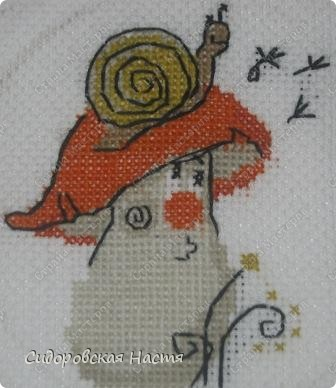 """Еще одна моя вышивка по схеме из набора """"Веселой пчелки"""" фото 2"""