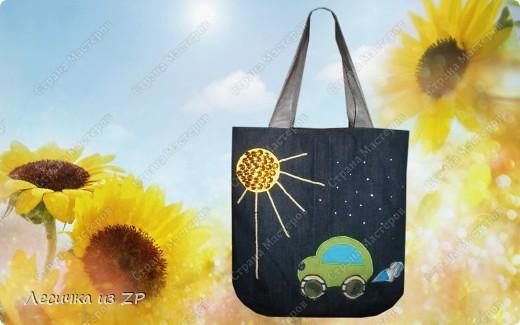 """Джинсовая сумка """"Машинка"""".  Хотите со мной по путешествовать? Тогда садитесь, прокачу! Возьмите с собой хорошее настроение и УлЫбКу... фото 1"""