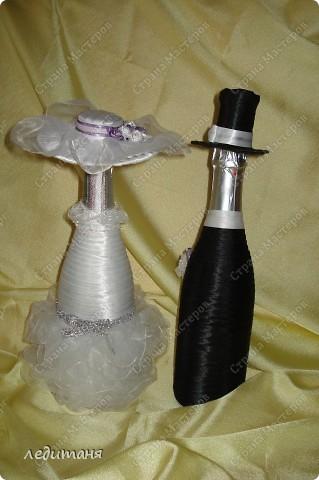 Мои свадебные бутылки по МК Олечки(gud) фото 3