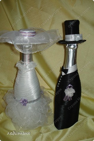 Мои свадебные бутылки по МК Олечки(gud) фото 4